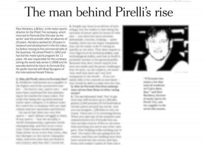 Pirelli – The International Herald Tribune