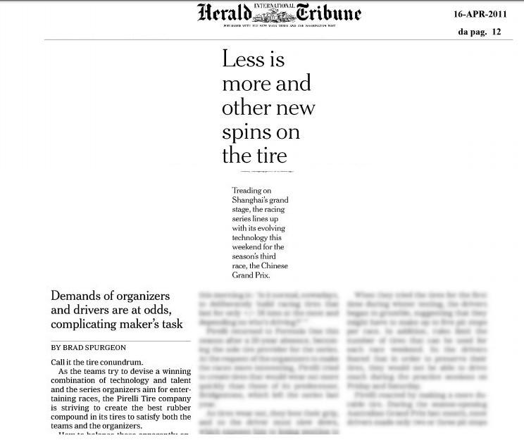 Pirelli – International Herald tribune