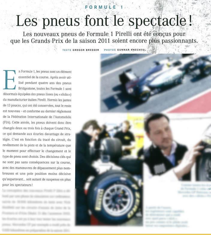 Pirelli – Mercedes Benz Magazine France