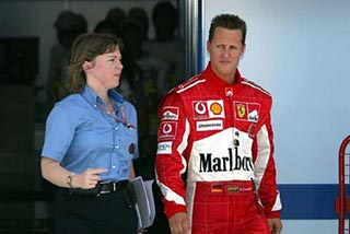 Accompanying Michael Schumacher - Media work