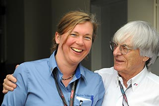With Bernie Ecclestone at the Malaysian Grand Prix