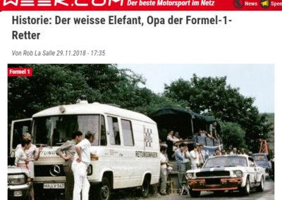 Historie: Der weisse Elefant, Opa der Formel-1-Retter – Speedweek.com