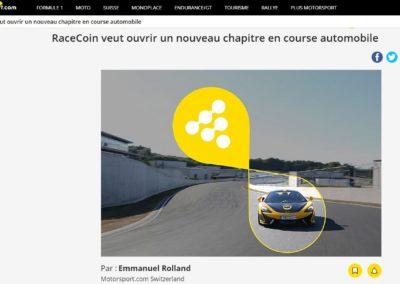 RaceCoin veut ouvrir un nouveau chapitre en course automobile – Motorsport.com