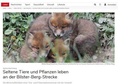 Seltene Tiere und Pflanzen leben an der Bilster-Berg-Strecke – Neue Westfälische