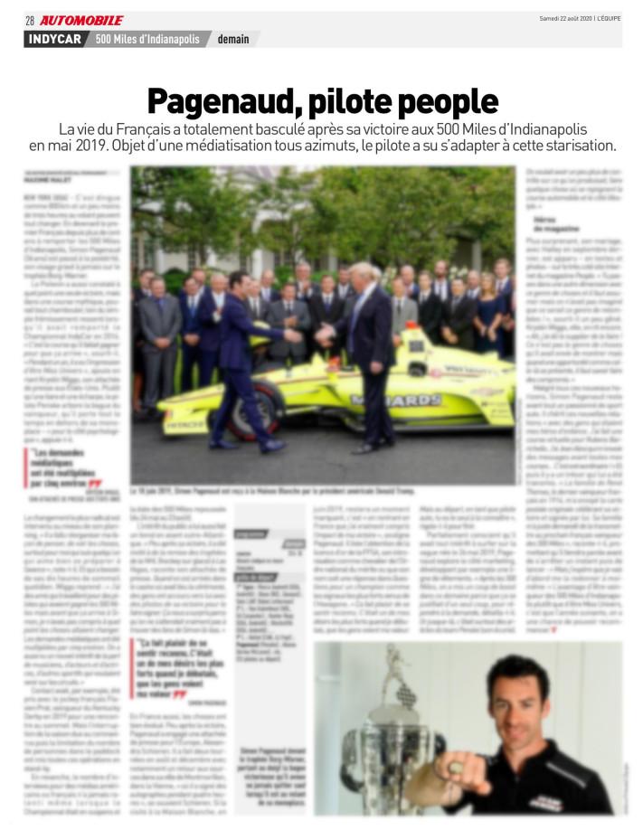 Simon Pagenaud – L'Equipe/1